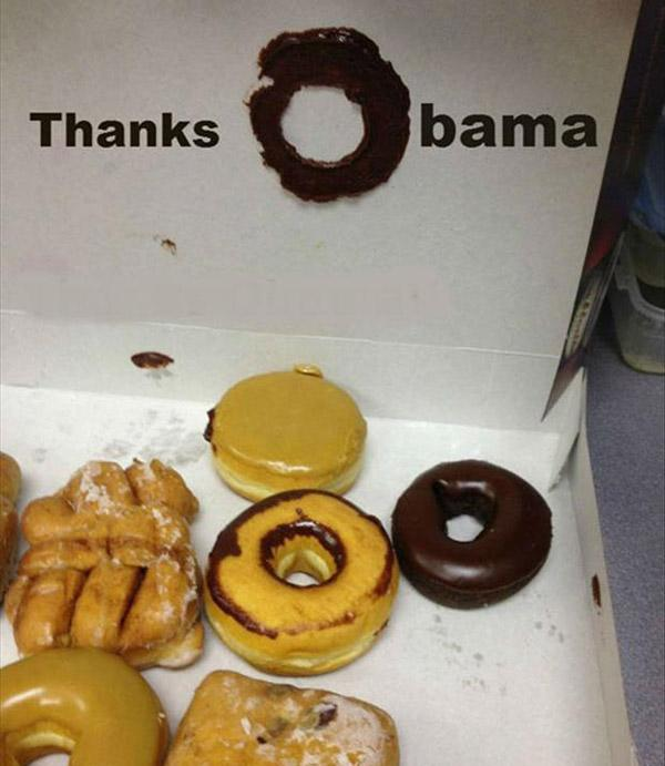Thanks Obama Donut