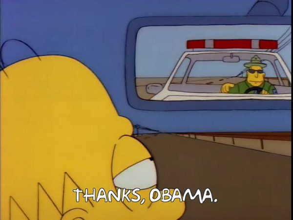 Thanks Obama Simpsons