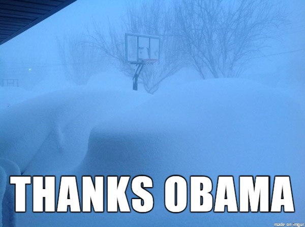 Thanks Obama Snow