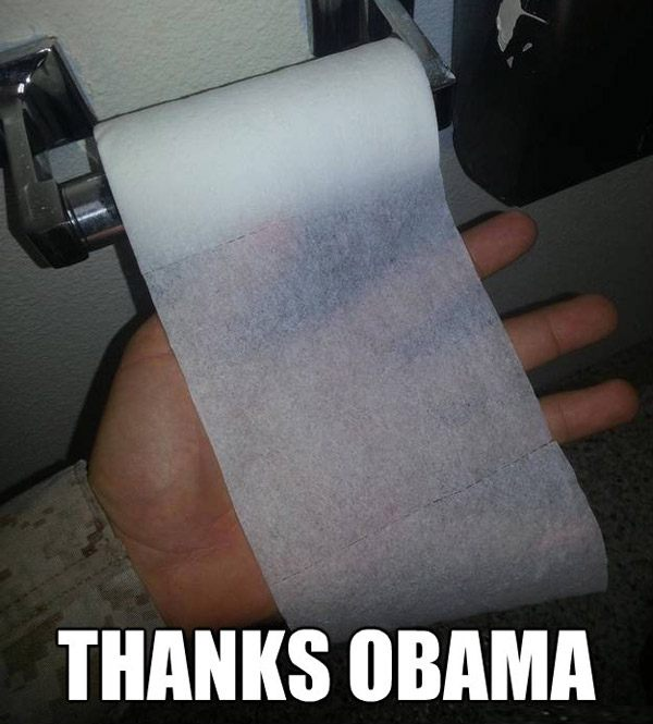 Thanks Obama Toilet Paper