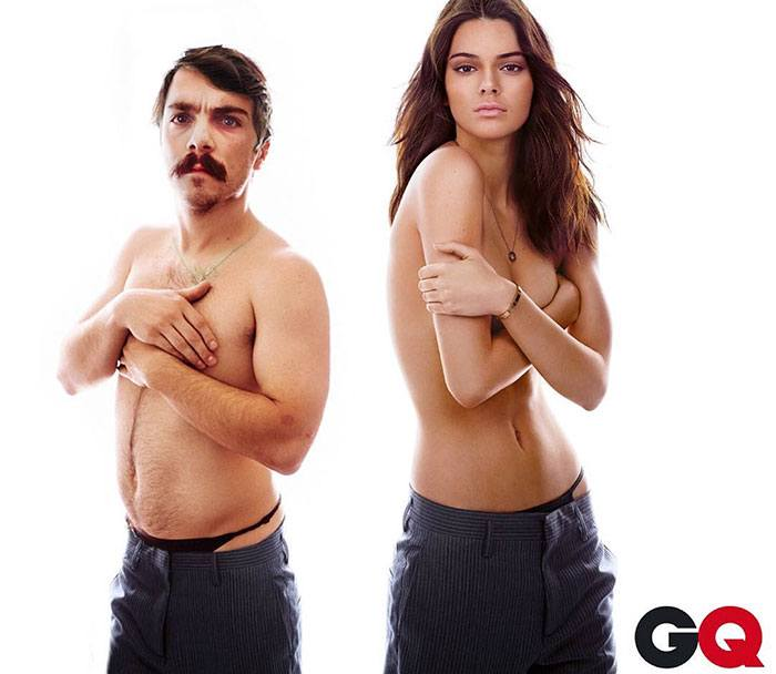 Topless Kendall Jenner Photoshop