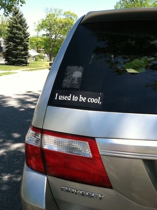 Used To Be Cool Funny Bumper Stickers