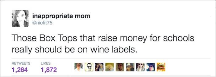Funny Parenting Tweets Wine Labels
