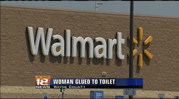 Woman Glued Toilet