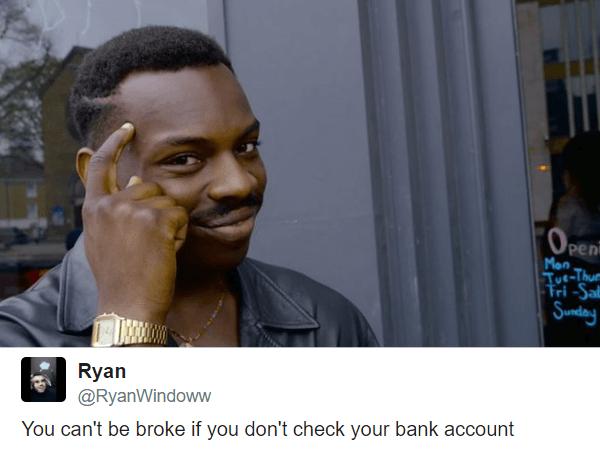 Broke Funny Roll Safe Memes