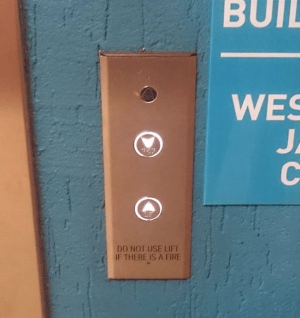 Buttons In Lift