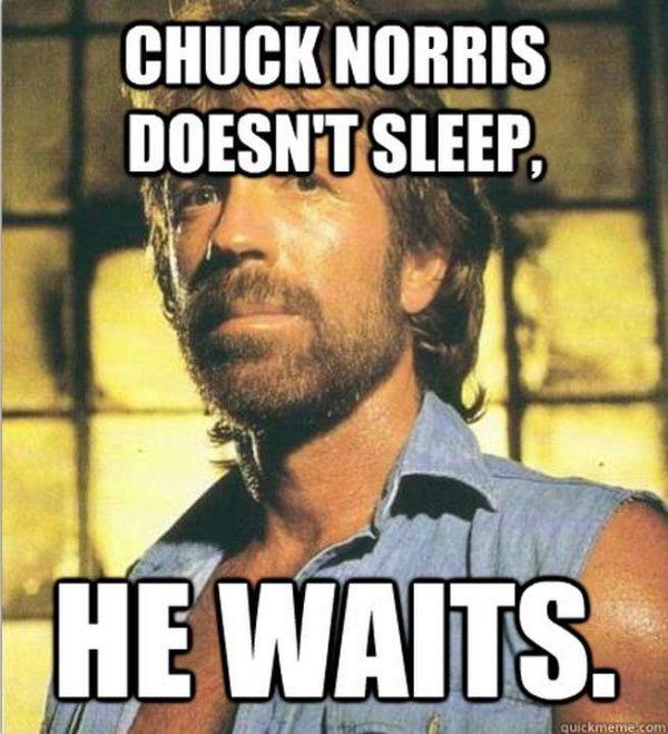 Chuck Norris Memes Sleep