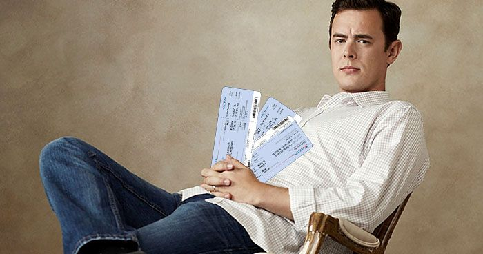 Colin Hanks Train Tickets