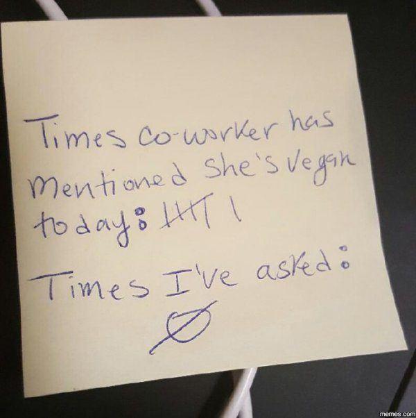 Coworker Vegan Jokes