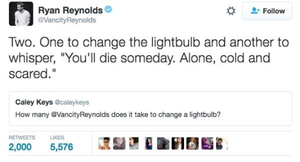 Funny Ryan Reynolds Tweets