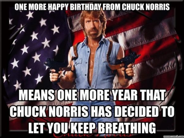 Happy Birthday From Chuck Norris