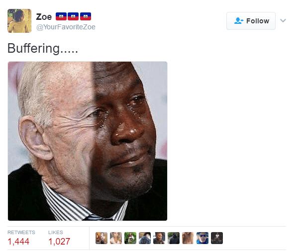 Jordan Jones Crying