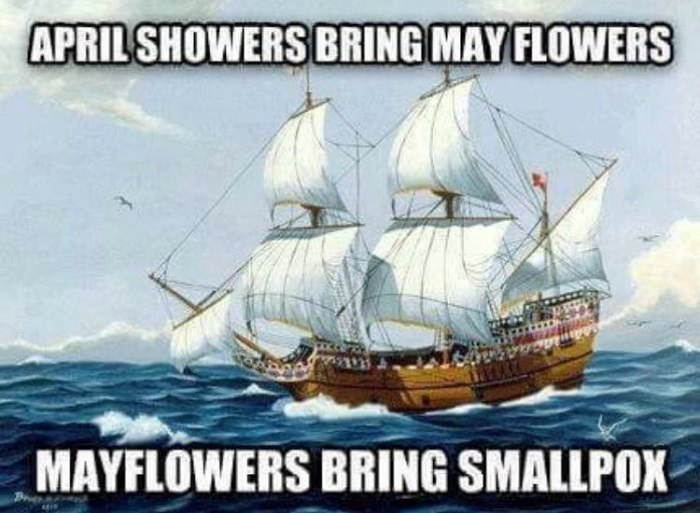 Mayflower Smallpox Funny History Memes