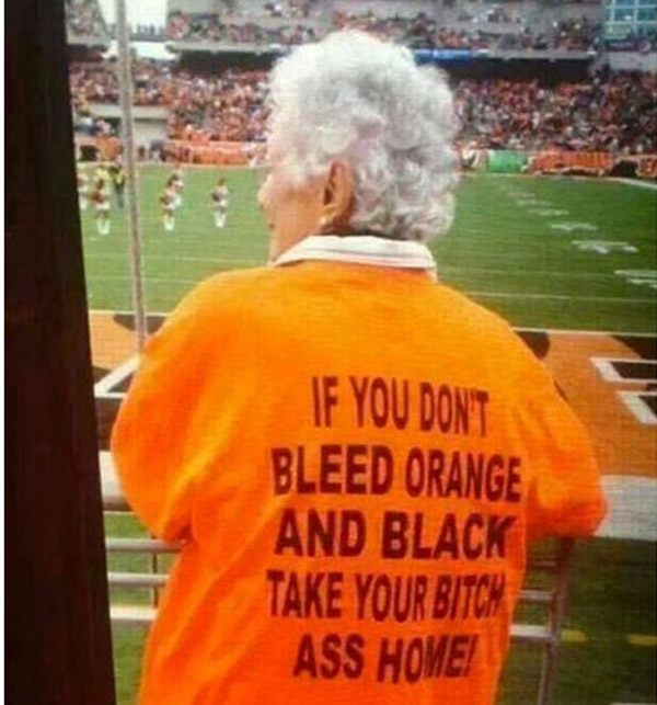 Orange Black Bleed