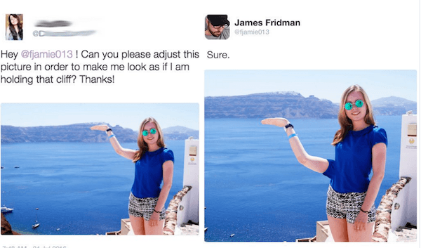 Photoshop Trolls Cliff
