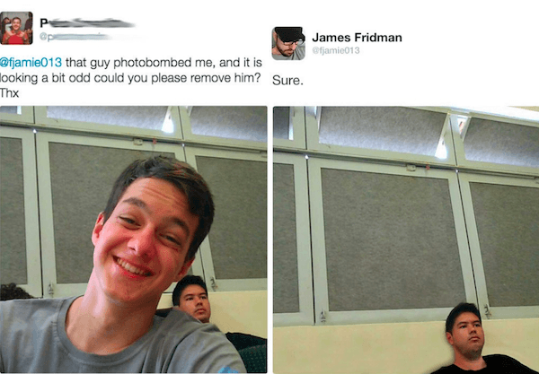 Photoshop Troll Photobomber
