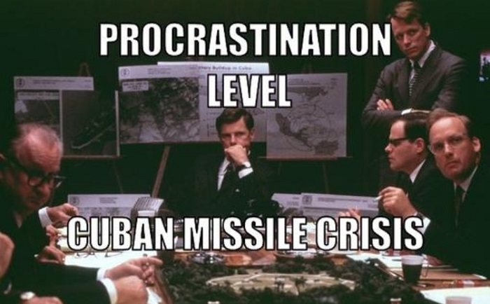 Procrastination Cuban Missile Crisis
