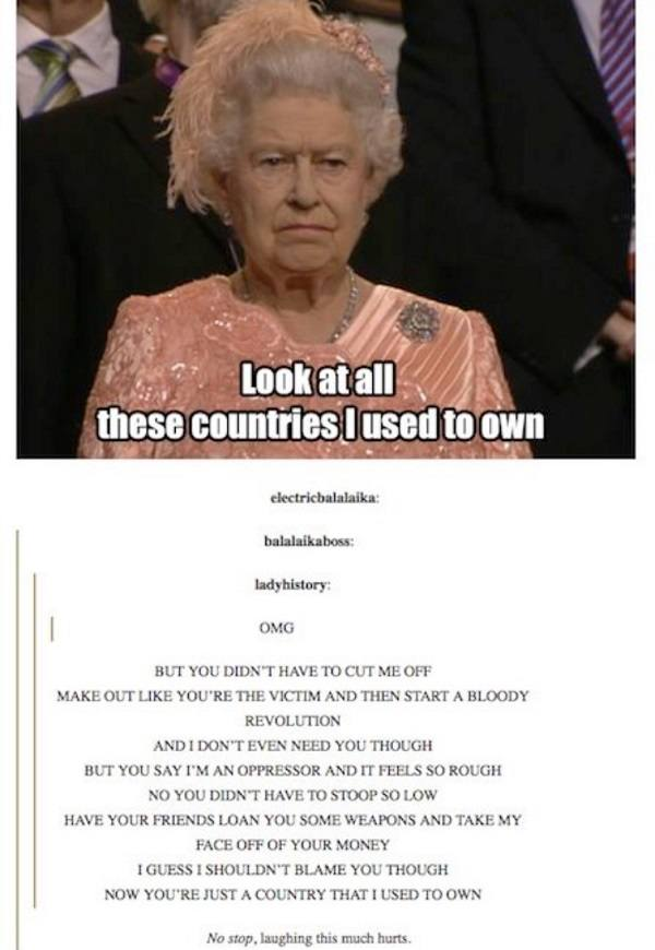 Queen Countries That I Used To Own