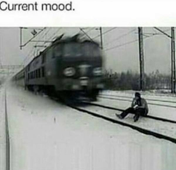 Sitting On Railroad Tracks
