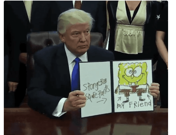 Donald Trump Executive Order Memes Spongebob