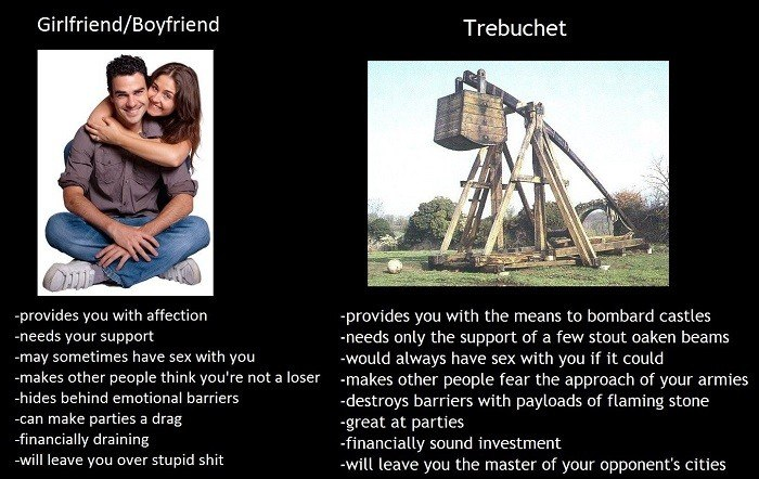 Trebuchet Vs Relationships