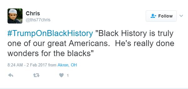 Trump Black History