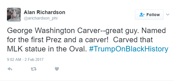 Trump Geaorge Washington Carver