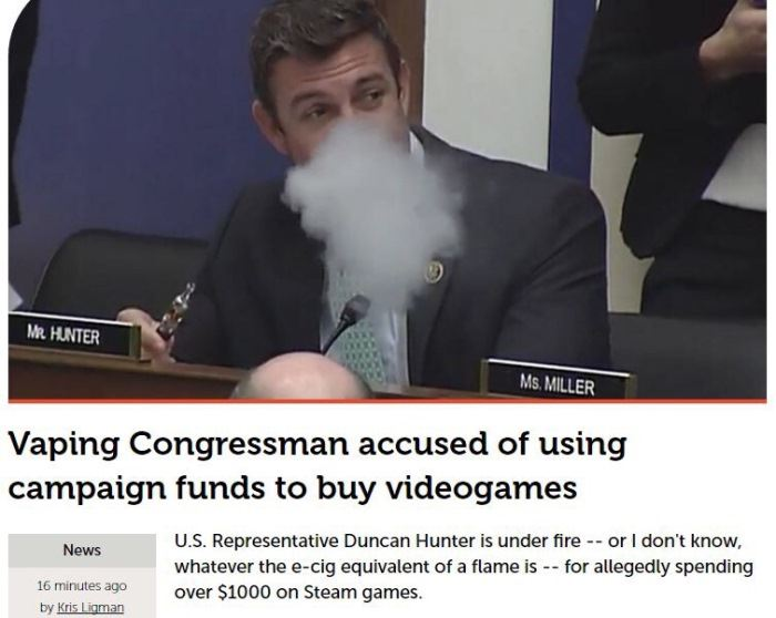 Vaping Congressman