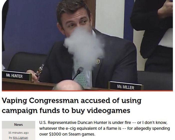 Vaping Congressman