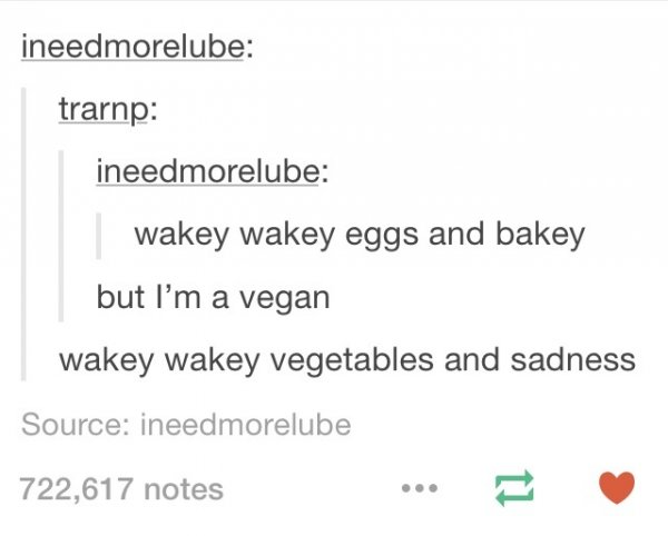 Vegetables And Sadness Vegan Jokes