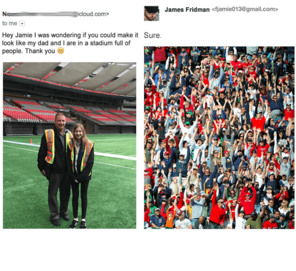 At A Stadium Full Of People
