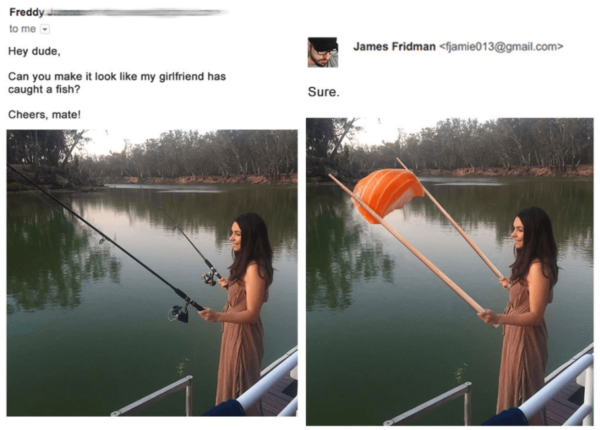 Funny Photoshop Trolls Fishing
