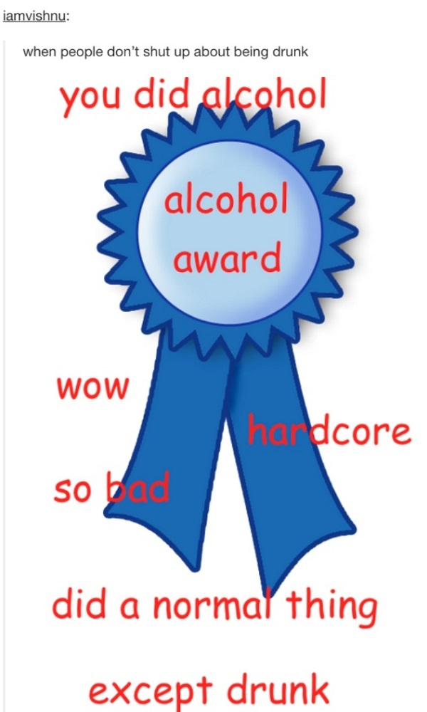 Alcohol Award