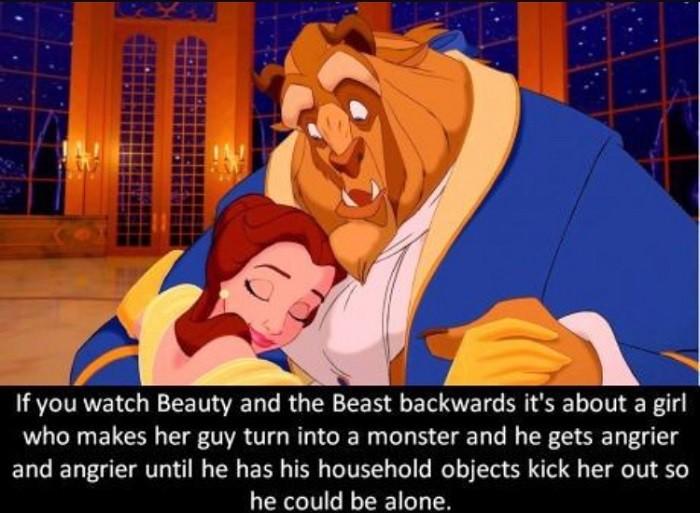 Beauty And The Beast Backwards