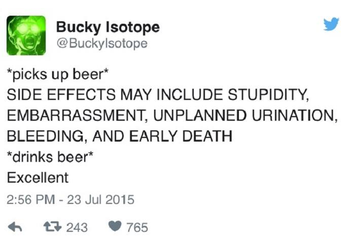 Beer Side Effects