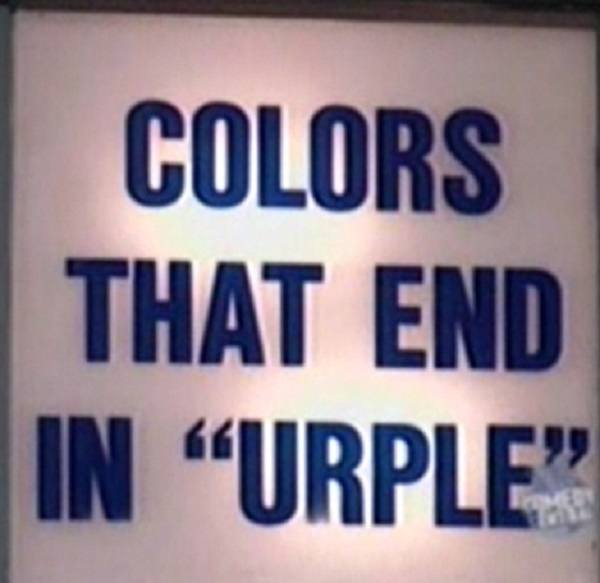 Colors That End In Urple