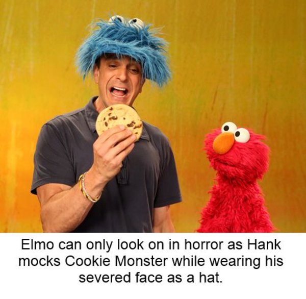 Elmo Cookie Monster Face