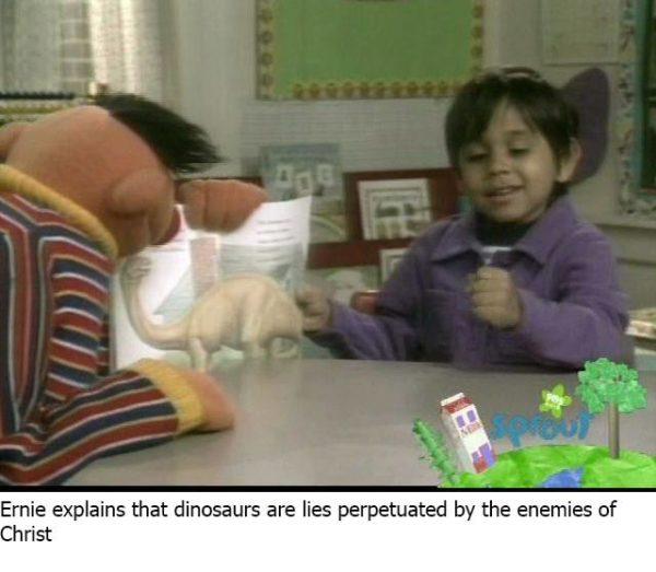 Ernie Dinosaurs Christ