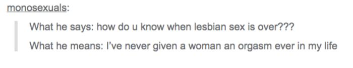 Gay Tumblr Truths Lesbian Orgasm