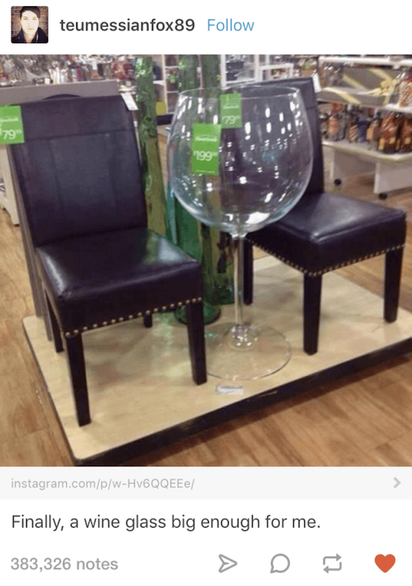 Huge Wine Glass