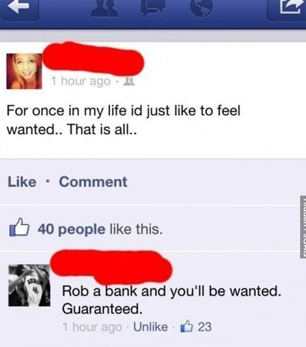 Rob Bank Advice