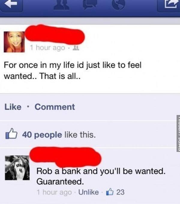 Rob Bank Advice