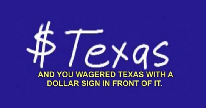 Texas Dolar Sign