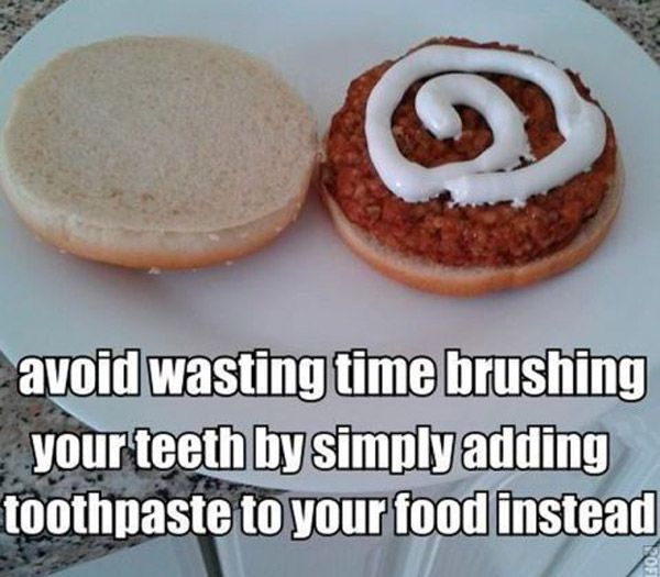 Toothpaste Food