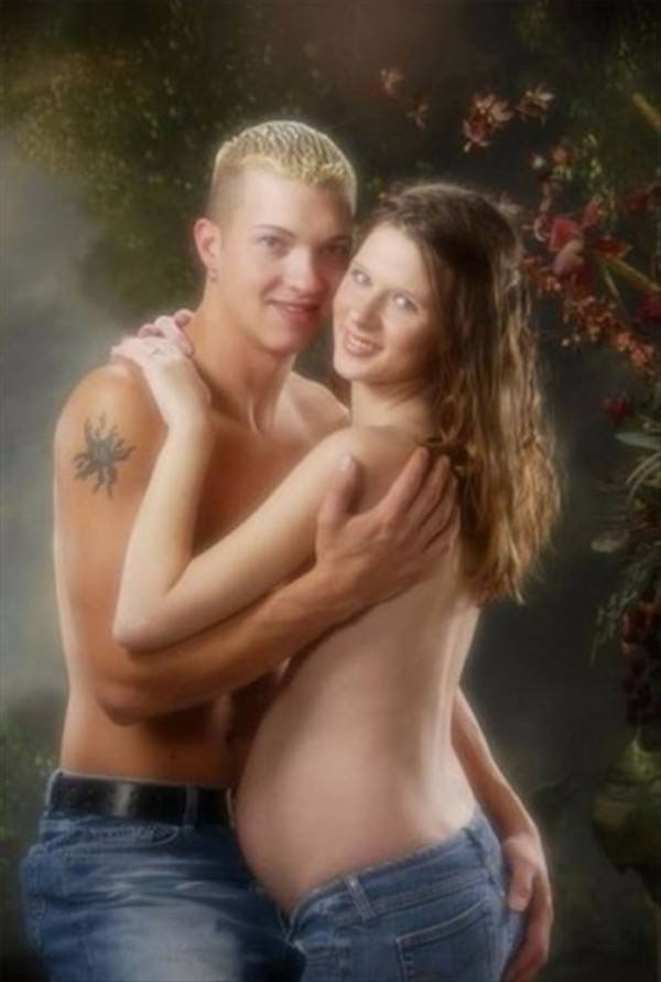 Topless Pregnant