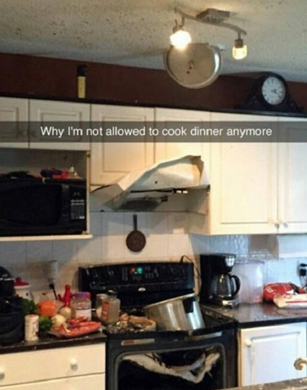 Why I'm Not Allowed To Cook