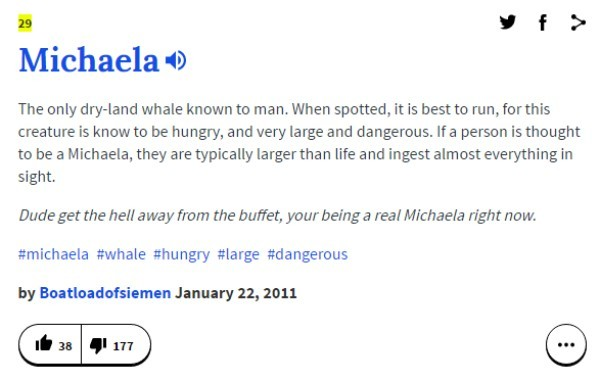 Michaela Urban Dictionary Name Definitions