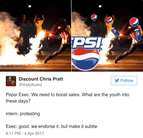 Pepsi Commercial Memes Protesting