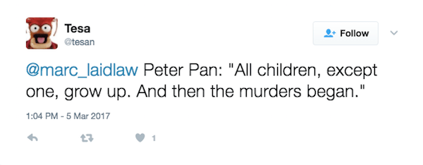 Peter Pan Then The Murders Began