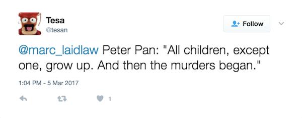 Peter Pan Then The Murders Began